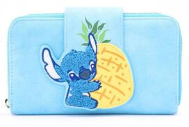 Loungefly Stitch Chenille Snap Wallet