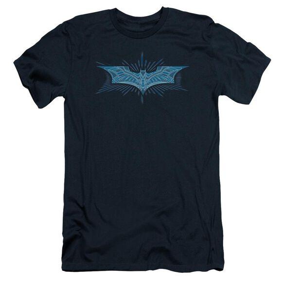 Dark Knight Bat Armor Logo Short Sleeve Adult T-Shirt