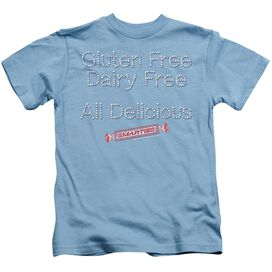 Smarties Free & Delicious Short Sleeve Juvenile Carolina Blue T-Shirt