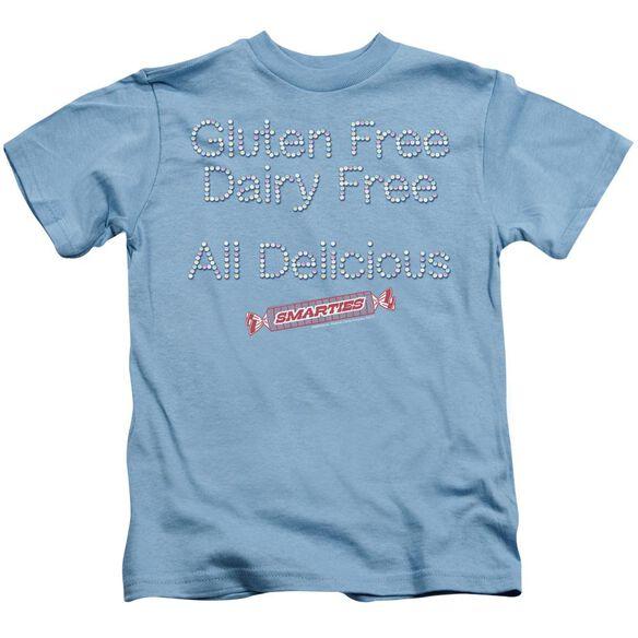 Smarties Free & Delicious Short Sleeve Juvenile Carolina Blue T-Shirt