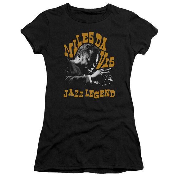 Miles Davis Jazz Legend Short Sleeve Junior Sheer T-Shirt