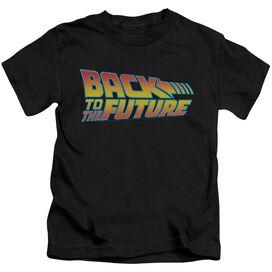 Back To The Future Logo Short Sleeve Juvenile Black Black T-Shirt