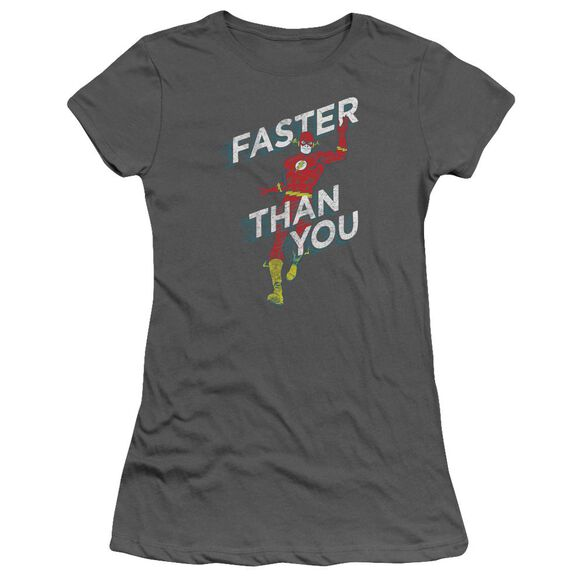 Dc Faster Than You Short Sleeve Junior Sheer T-Shirt