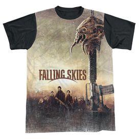 Falling Skies Skitter Head Short Sleeve Adult Front Black Back T-Shirt