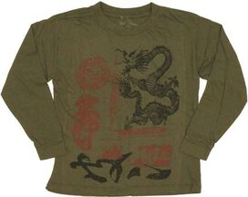 Dragon Seal Long Sleeve Juvenile T-Shirt
