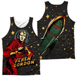 Flash Gordon Blast Off (Front Back Print) Adult Poly Tank Top