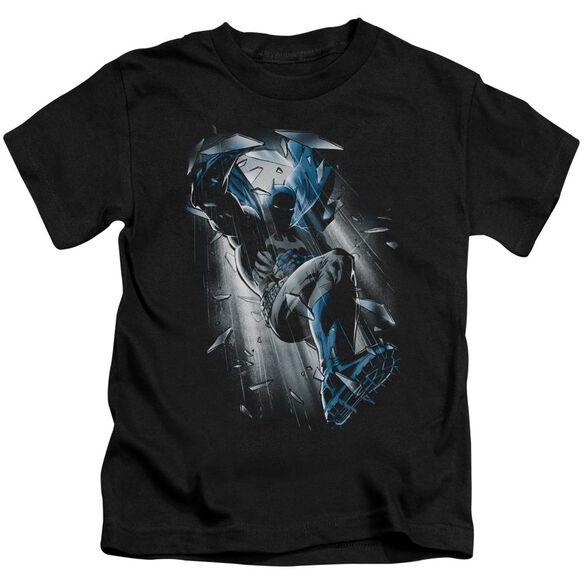 Batman Bat Crash Short Sleeve Juvenile Black T-Shirt