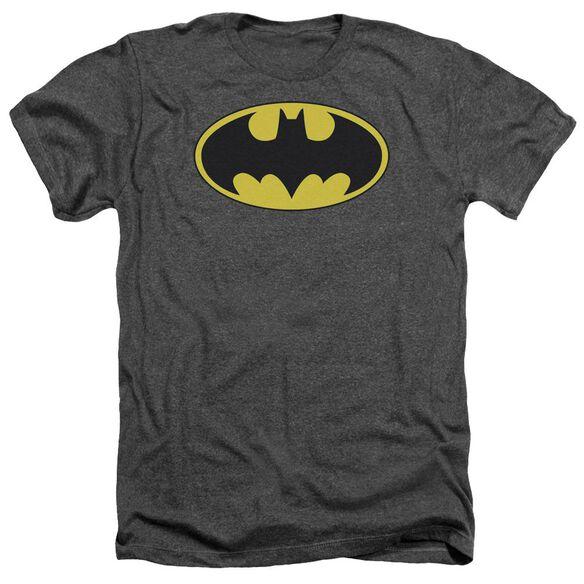 Batman Classic Bat Logo Adult Heather