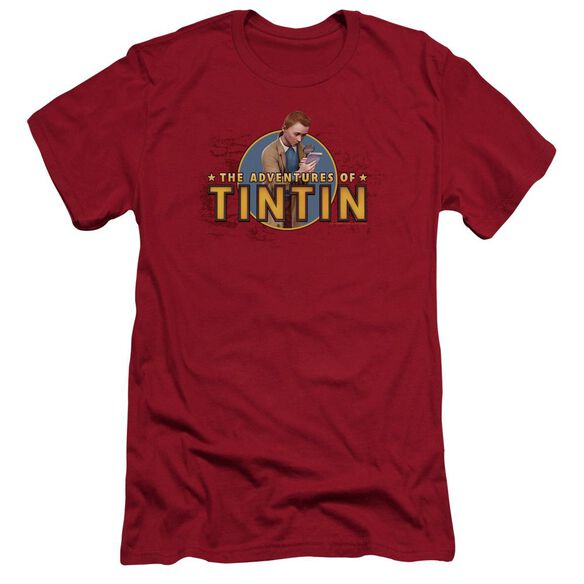 Tintin Looking For Clues Premuim Canvas Adult Slim Fit