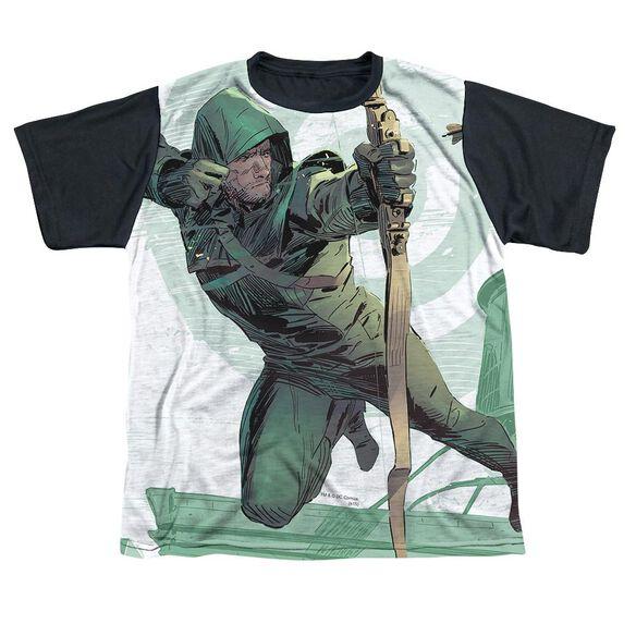 Arrow City Bullseye Short Sleeve Youth Front Black Back T-Shirt