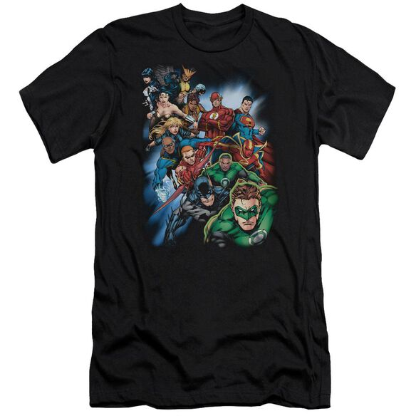 Jla Heroes Unite Short Sleeve Adult T-Shirt