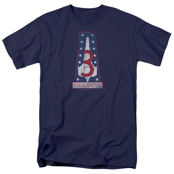 BSG VIGILANTES BADGE - S/S ADULT 18/1 - NAVY T-Shirt