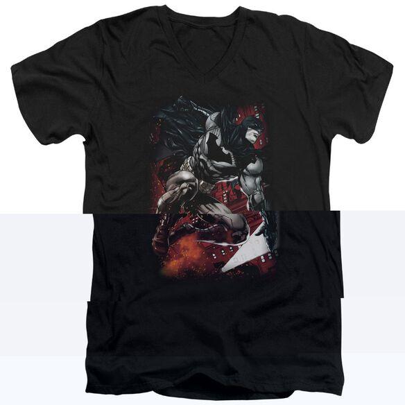 BATMAN SPARKS LEAP-S/S ADULT T-Shirt