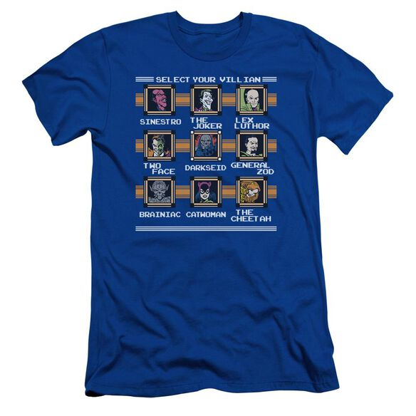 Dc Stage Select Short Sleeve Adult Royal T-Shirt
