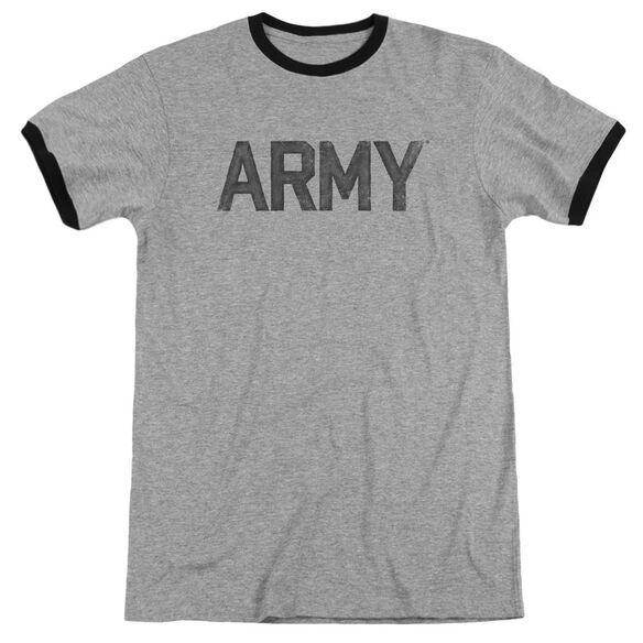 Army Star Adult Ringer Heather Black