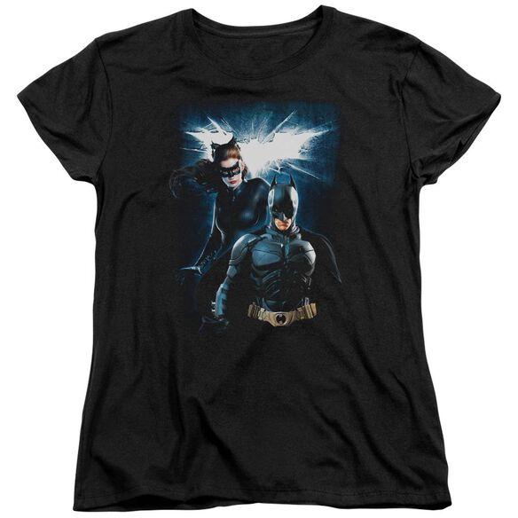 Dark Knight Rises Bat & Cat Short Sleeve Womens Tee T-Shirt