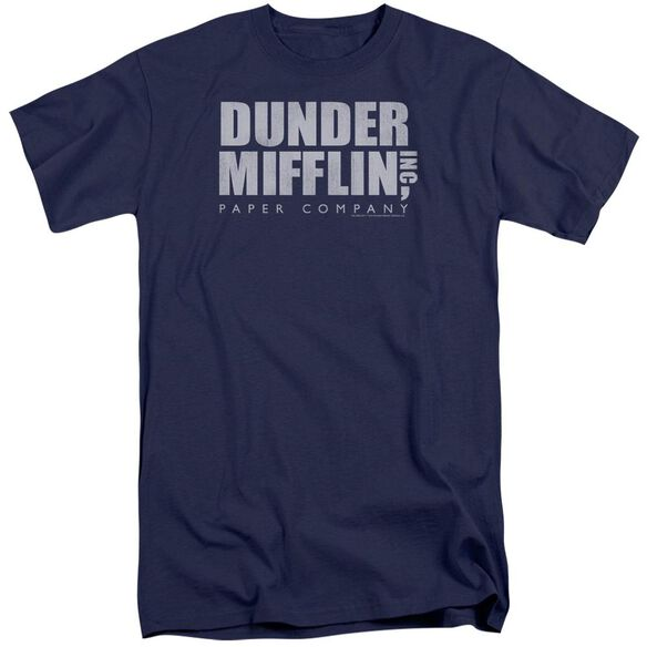 The Office Dunder Mifflin Distressed Short Sleeve Adult Tall T-Shirt