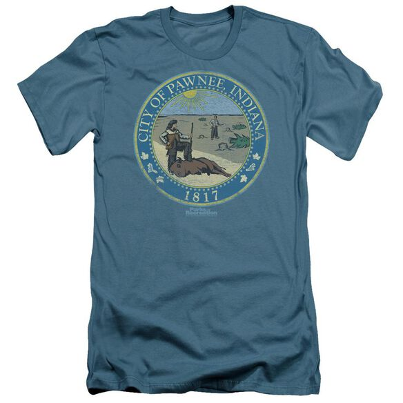 Parks And Rec Distressed Pawnee Seal Short Sleeve Adult T-Shirt