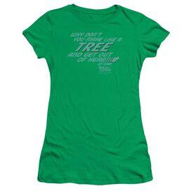 Back To The Future Make Like A Tree Short Sleeve Junior Sheer Kelly T-Shirt