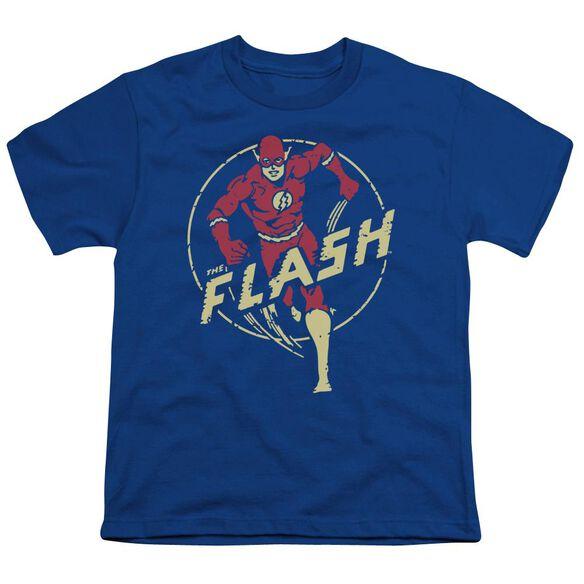 Dc Flash Flash Comics Short Sleeve Youth Royal T-Shirt