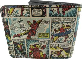 Iron Man Comic Panels Wallet
