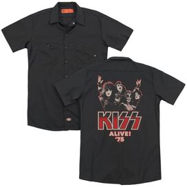 Kiss Alive 75 (Back Print) Adult Work Shirt