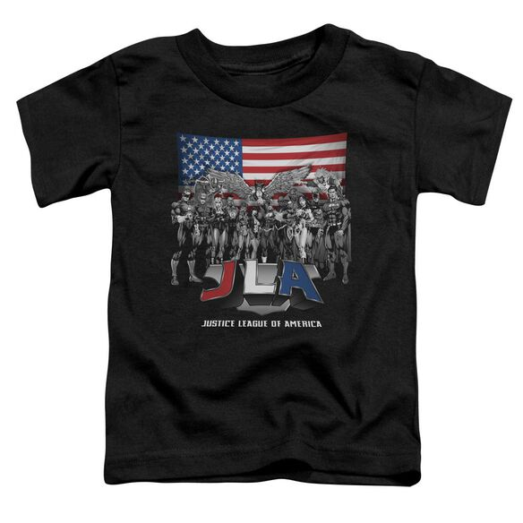 Jla All American League Short Sleeve Toddler Tee Black Sm T-Shirt