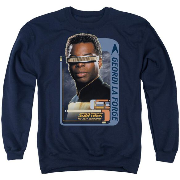 Star Trek Geordi Laforge Adult Crewneck Sweatshirt