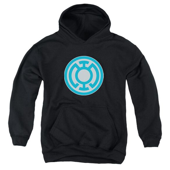 Green Lantern Blue Symbol Youth Pull Over Hoodie