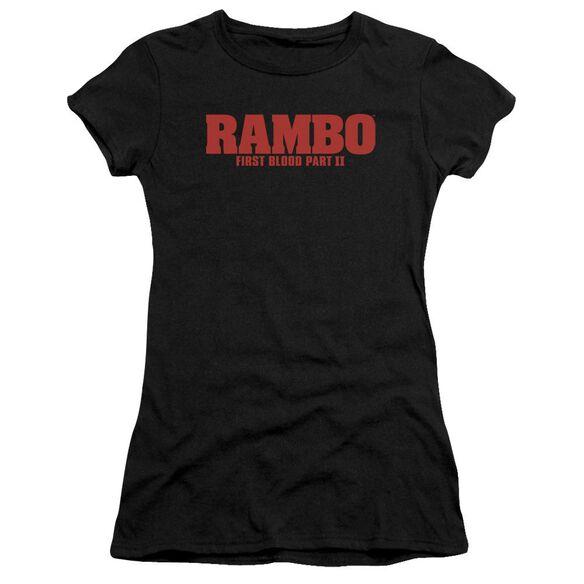 Rambo:First Blood Ii Logo Premium Bella Junior Sheer Jersey