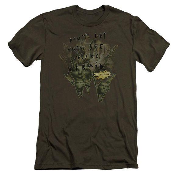 Mirrormask Don't Let Them Premuim Canvas Adult Slim Fit Military