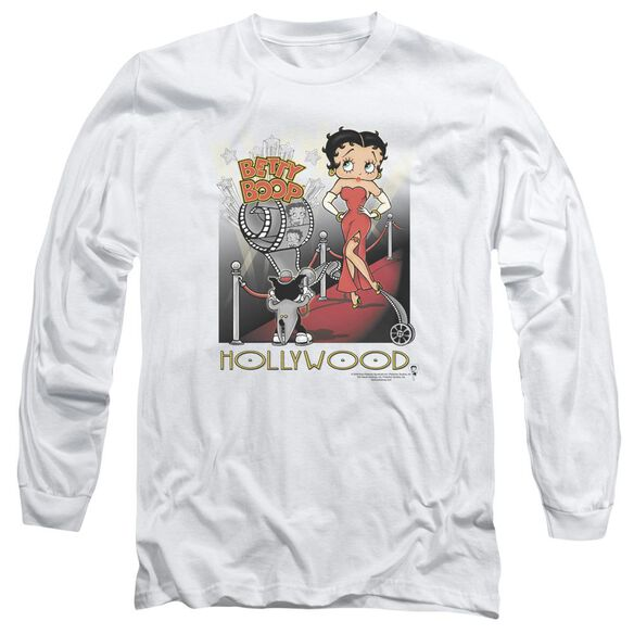 Betty Boop Hollywood Long Sleeve Adult T-Shirt