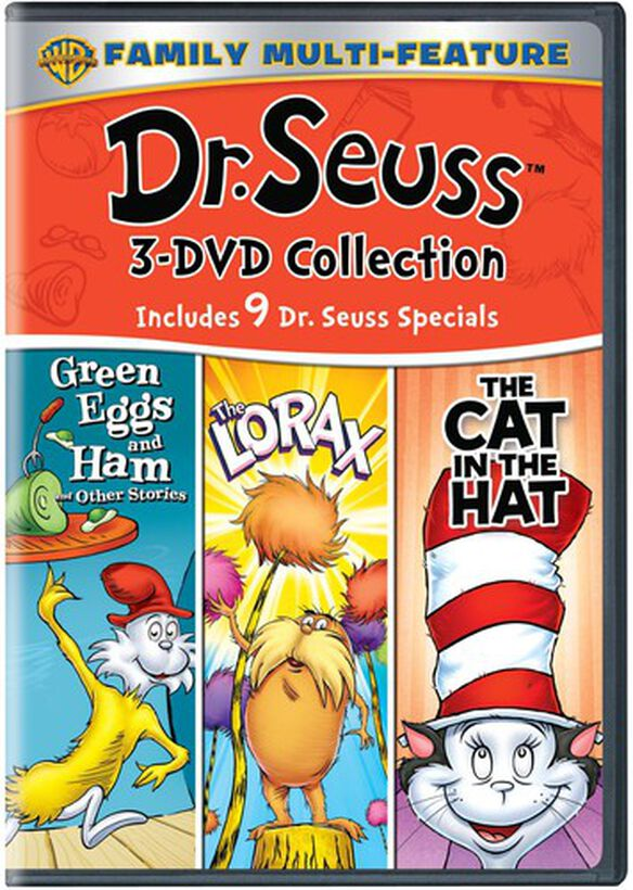 Dr. Seuss 3 DVD Collection: Green Eggs and Ham / The Lorax / The Cat in the Hat