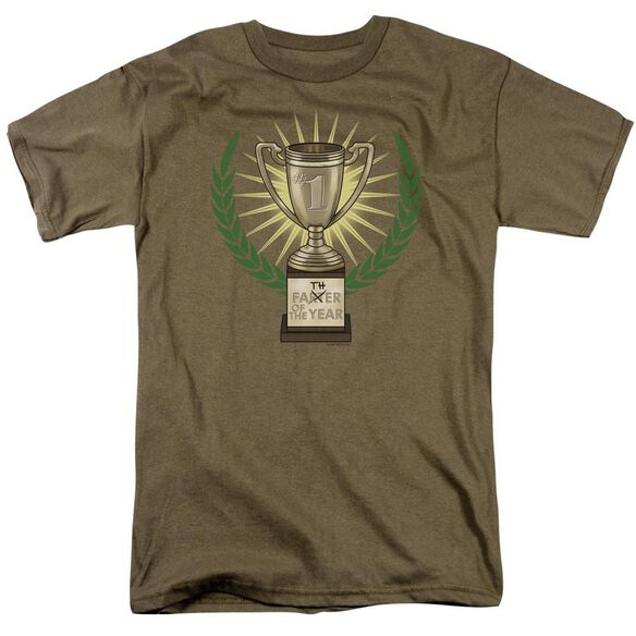 Father Of The Year Short Sleeve Adult Safari Green T-Shirt