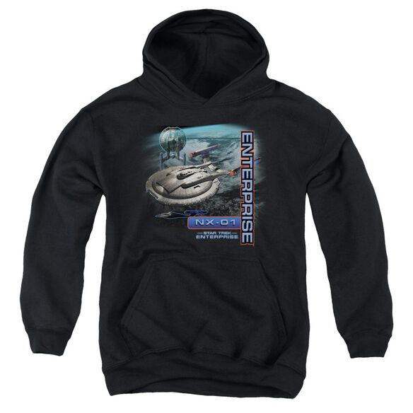Star Trek Enterprise Nx 01 Youth Pull Over Hoodie