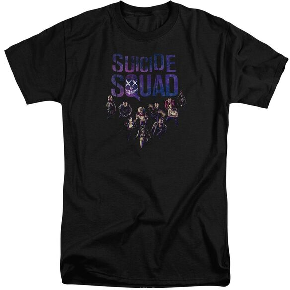Suicide Squad Suicide Group Smile Short Sleeve Adult Tall T-Shirt