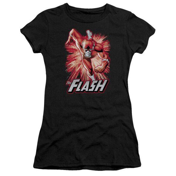 Jla Flash Red & Gray Short Sleeve Junior Sheer T-Shirt