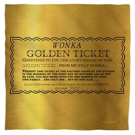 Willy Wonka And The Chocolate Factory I Got A Golden Ticket Bandana