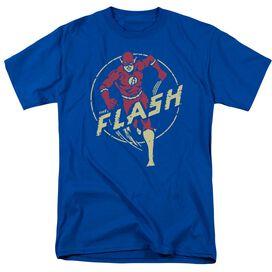 Dc Flash Flash Comics Short Sleeve Adult Royal T-Shirt