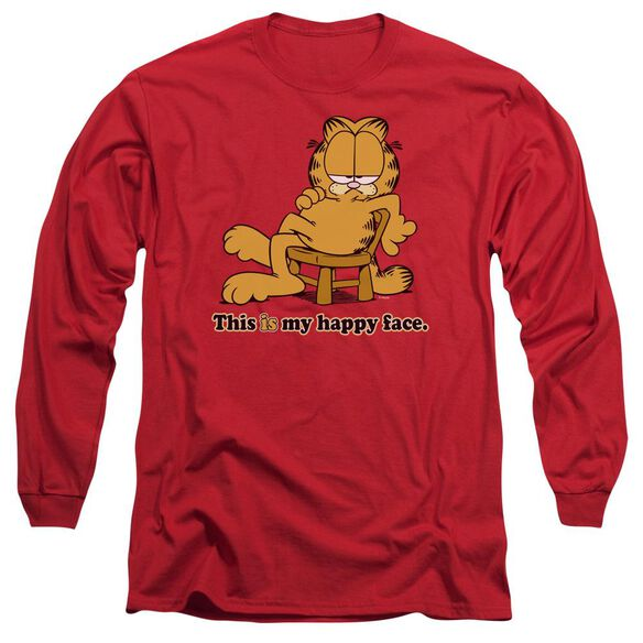 Garfield Happy Face Long Sleeve Adult T-Shirt