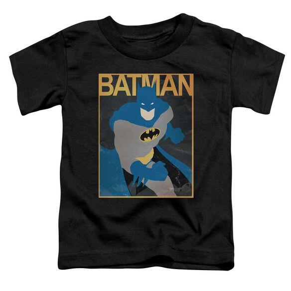 Batman Simple Bm Poster Short Sleeve Toddler Tee Black T-Shirt