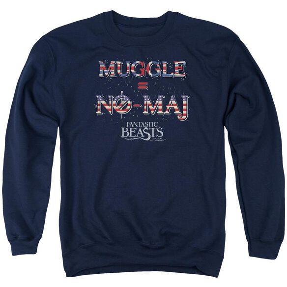 Fantastic Beasts Uk Us No Maj Adult Crewneck Sweatshirt
