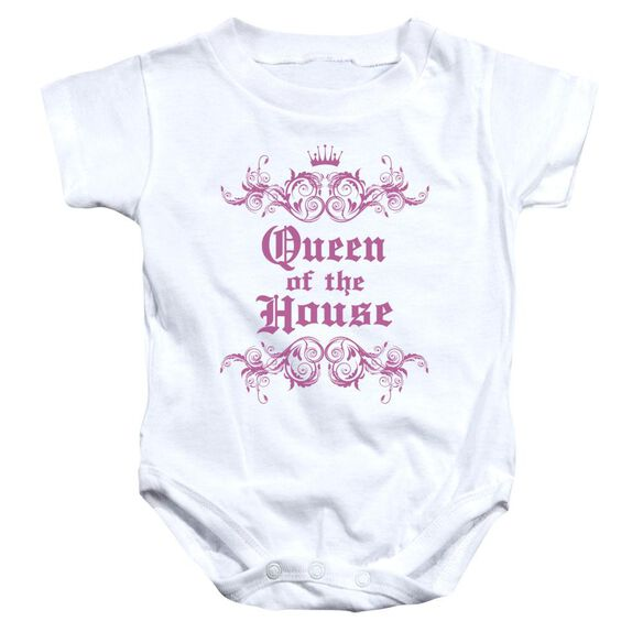 Queen Of The House Infant Snapsuit White Md