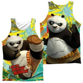 Kung Fu Panda Dragon Warrior (Front Back Print) Adult 100% Poly Tank Top