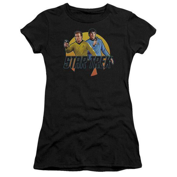 Star Trek Phasers Ready Short Sleeve Junior Sheer T-Shirt
