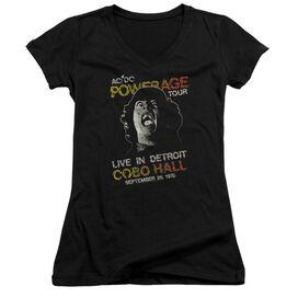 Acdc Powerage Tour Junior V Neck T-Shirt
