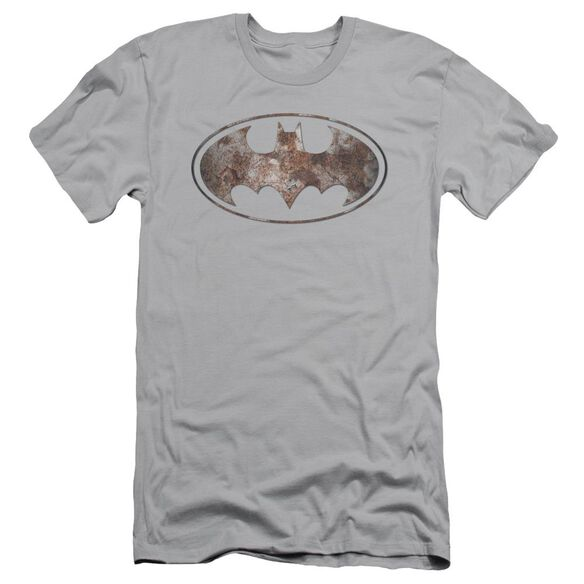 Batman Heavy Rust Logo Short Sleeve Adult T-Shirt