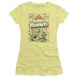 Dubble Bubble Bubble Peanuts Short Sleeve Junior Sheer T-Shirt