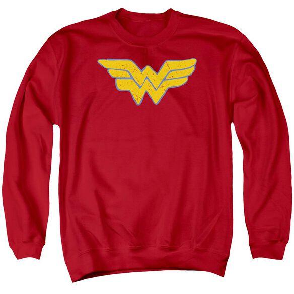 Jla Rough Wonder Adult Crewneck Sweatshirt