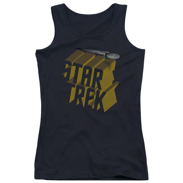 Star Trek 3 D Logo Juniors Tank Top